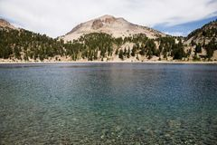 Lake Helen and Lassen Peak Royalty Free Stock Images