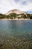 Lake Helen and Lassen Peak Stock Photography