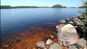 Lake Helgasjon in Sweden stock video