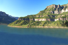 Lake. A lake in Henan Province, China Royalty Free Stock Photo