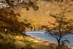 Lake Hermoso, Neuquen, Argentina. Beautiful lake located in the Nahuel Huapi National Park, Neuquen, Argentina Stock Photos