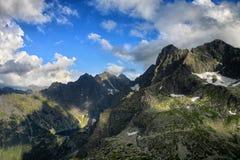 Lake hidden high in mountain Stock Photography