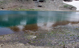 Lake at high altitude. Italian Alps Royalty Free Stock Images