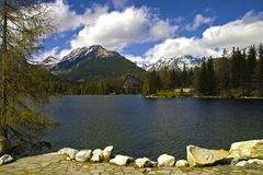 Lake in high mountain Royalty Free Stock Photography