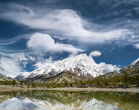 Lake and high mountains Stock Photography