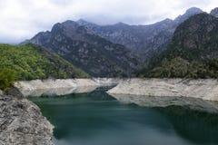 Lake in high mountains Stock Photos