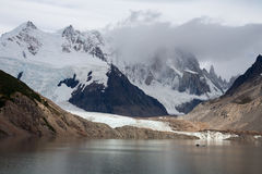 Lake in the high mountains. Lake Laguna Torre. Patagonia. Argentina Royalty Free Stock Image