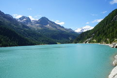 Lake in the high mountains Royalty Free Stock Photography