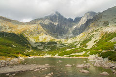 Lake in high tatras mountains Royalty Free Stock Photos