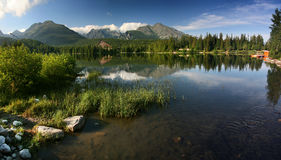 Lake in High Tatras - Strbske pleso Stock Photography