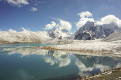 Lake high up in the himalayas above 4500 m elevation Stock Image