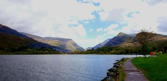 Lake near Snowdonia National Park, North Wales, UK Royalty Free Stock Image