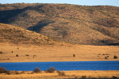 Lake and hill Stock Photography