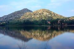 Lake and hills Stock Photo