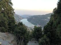 A lake between the hills around Nainital, India
