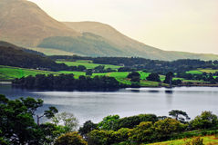 Lake and hills. A lake with hills in the background Stock Image