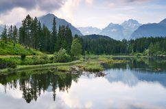Lake in the Hills stock photography
