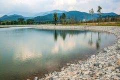 The lake in Hinoki land. Thailand royalty free stock photos