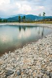The lake in Hinoki land. Thailand stock photos
