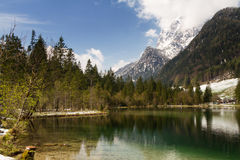 Lake Hintersee in the bavarian alps Royalty Free Stock Photography