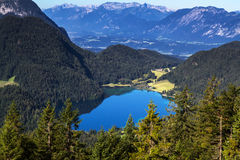 Lake Hintersteiner See in Austria Stock Image