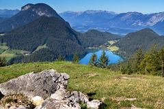 Lake Hintersteiner See in Austria, Tyrol Stock Images