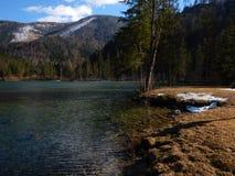 Lake in hinterstoder under groeer priel Stock Images