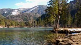 Lake in hinterstoder under groeer priel Royalty Free Stock Image