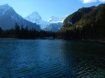 Lake in hinterstoder under groeer priel Stock Photography