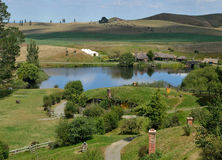 The Lake at Hobbiton Movie Set Royalty Free Stock Photos