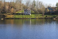 Lake homes Stock Photos