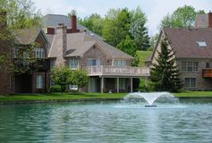 Lake Homes Royalty Free Stock Images