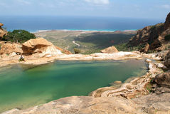 Lake of Homhil at Socotra island Stock Images