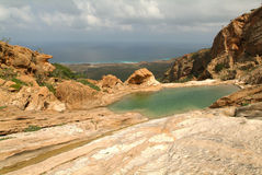 Lake of Homhil at Socotra island Stock Photo
