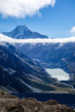 Lake Hooker and Mount Cook Stock Image