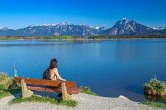 Lake Hopfensee fotografering för bildbyråer