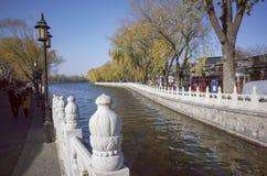 Lake houhai in beijing city. Lake houhai in center area of beijing city stock photo