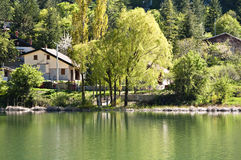 Lake House. Madonie Park, Sicily. A lake house stock photo