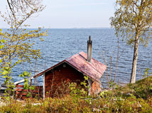 Lake house. stock photo