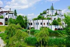 The lake house. Blumau, Bad Blumau, Austria Royalty Free Stock Image