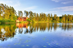 The lake house Stock Photography