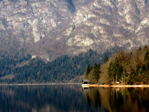 The Lake House. Lake Bohinj in Slovenian Alps Stock Photo