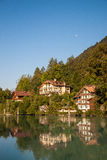 Lake and the house in Interlaken. Beautiful view of the lake and the house in Interlaken, Switzerland Stock Photography