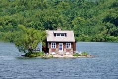 Lake house Stock Image
