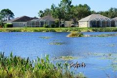 Lake and house Stock Photo