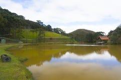 Lake house in Teresopolis royalty free stock image