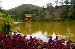 Lake house in Teresopolis Royalty Free Stock Images