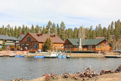 Lake Houses Royalty Free Stock Photo
