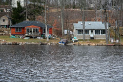 Lake Houses - Real Estate Royalty Free Stock Photos