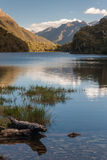 Lake Howden in Fiordland National Park Royalty Free Stock Photography